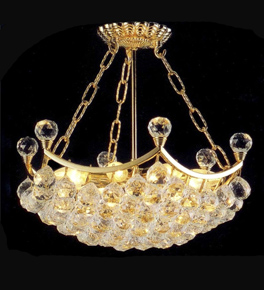 Basket Shaped Crystal Chandelier