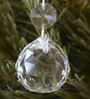 Faceted Ball Crystal Decoration