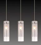 Contemporary 3 Light Crystal Pendant