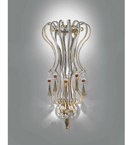 Elegant Pearl Strung Wall Light