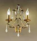 Villa Design Hand Bent Wall Lamp with Crystal Drops