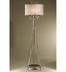 Eden Design Tripod Floor Light with Cream Shade