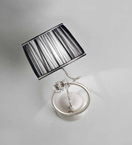 Ombrello Design Chrome Wall Light with Swarovski Crystal