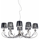 Pavone Design 8 Arm Metal Chandelier