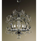 Malva Design 5 Light Chandelier with Crystal Details
