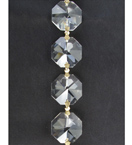 Chain of 24mm Faceted Crystal Octagons