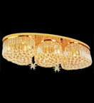 Crystal 9 Light Chandelier - Surface Mounted