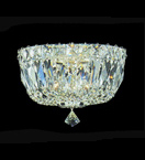 Surface Mounted Crystal Chandelier With Hanging Crystal