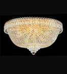 dome shaped surface mounted crystal chandelier