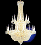 Large French Empire Crystal Chandelier