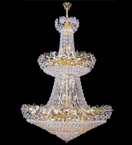 Tiered bowl style crystal chandelier