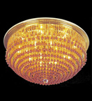 Circular Surface mounted crystal chandelier