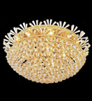 Surface mounted 18 light dome crystal chandelier