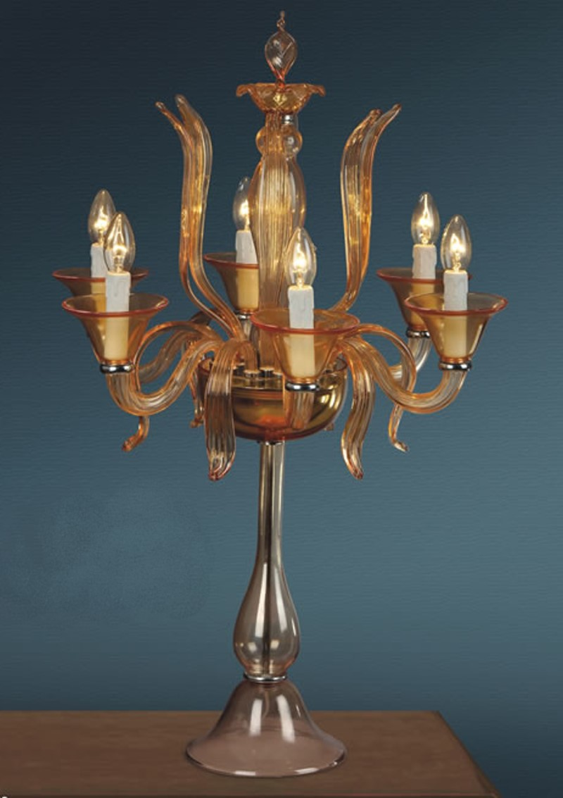 Murano Style Table Lamps